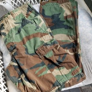 Military Button Fly Adjustable Camo Field Pants Sm